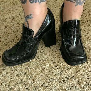 Steve Madden Black Penny Loafer Heels